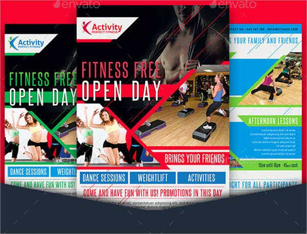 gym grand opening invitation flyer