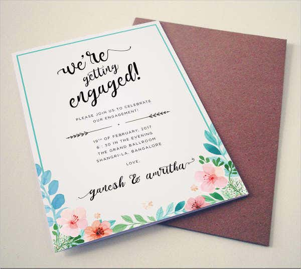 Engagement Invitation Greeting Card