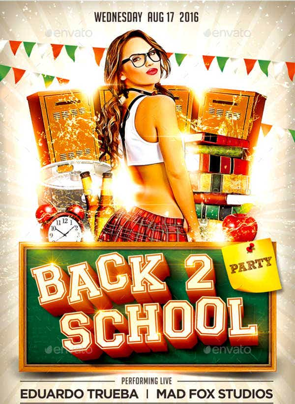 Back to School Block Party Flyer
