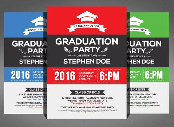 College Graduation Party Flyer