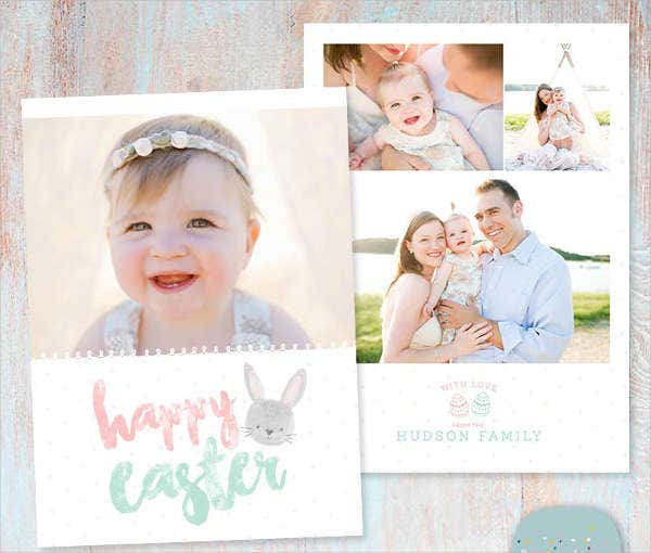 Easter Card Bunny Template
