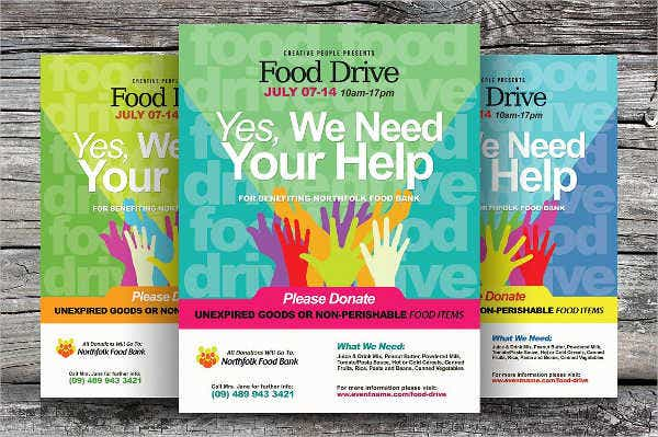 holiday food drive invitation flyer
