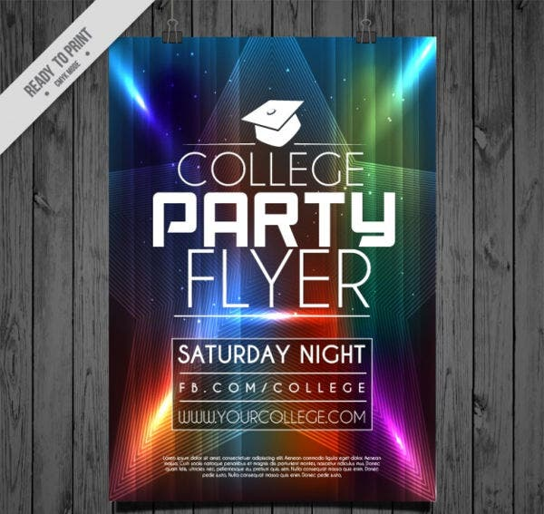 College Party Event Flyer