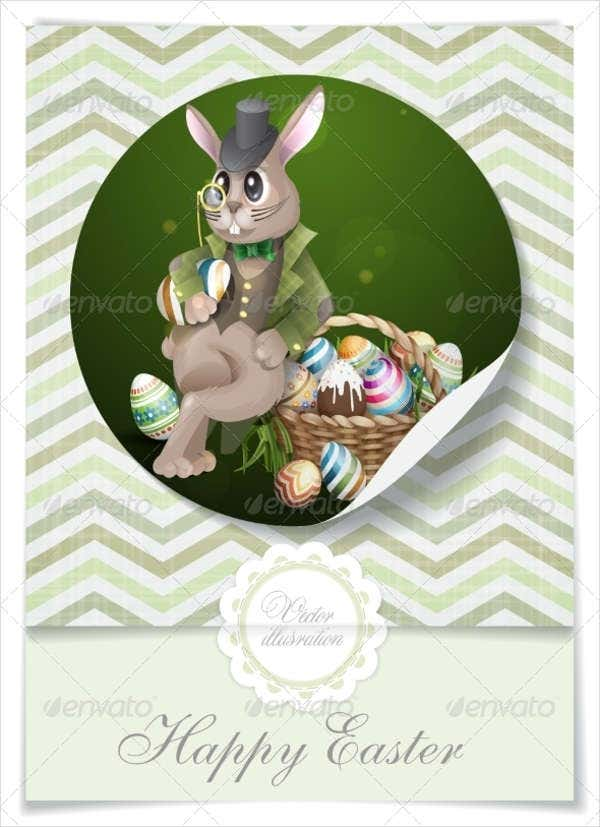 Easter Basket Bunny Template