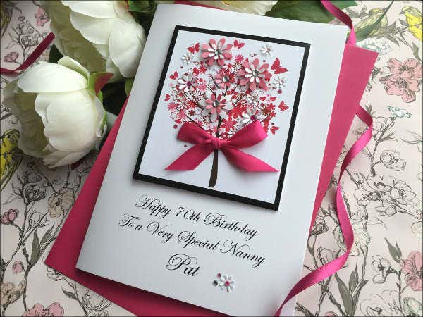 handmade flower birthday card1