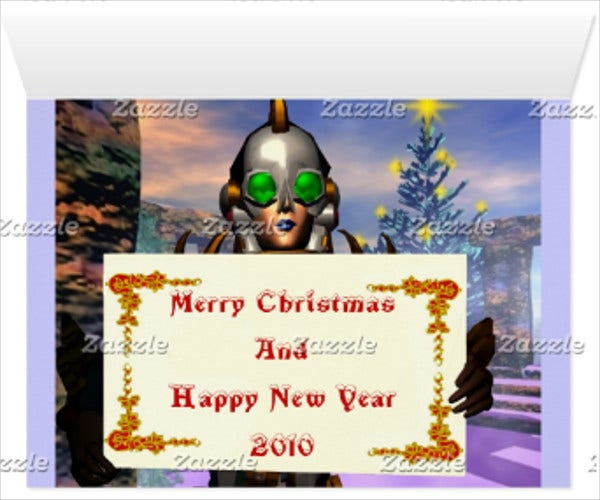 electronic new year greeting card