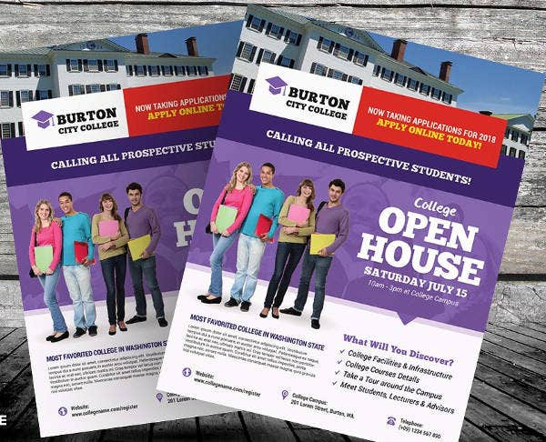 College Open House Party Flyer