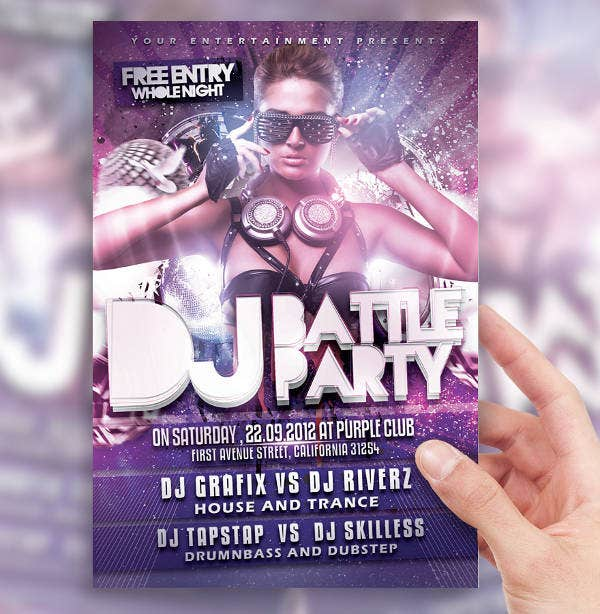 DJ Battle Night Party Flyer