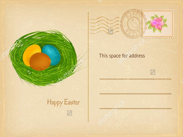 easter-adress-label-template
