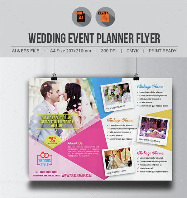 Sample Wedding Event Planner Flyer  Flyer Samples For An Event