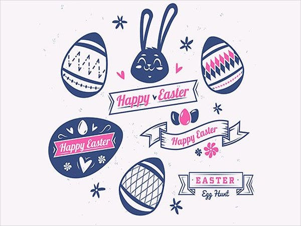 decorative-easter-label-template