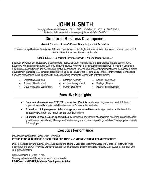 20 Business Resume Templates PDF DOC Free Premium Templates