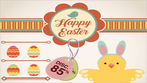 9 easter label templates