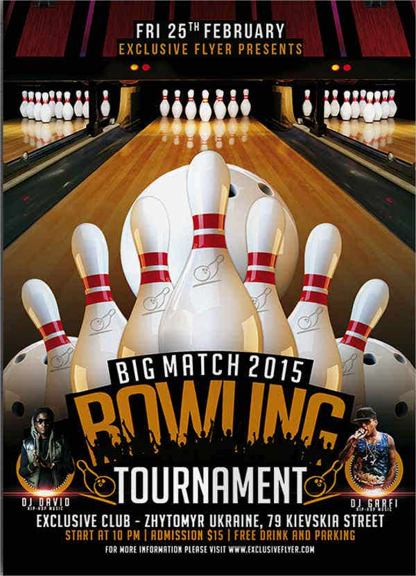 bowling tournament event flyer