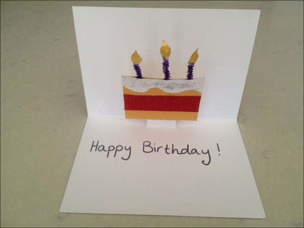 homemade pop up birthday card