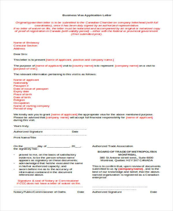 business visa application letter3