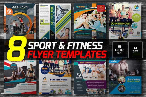 sports and fitness event flyer