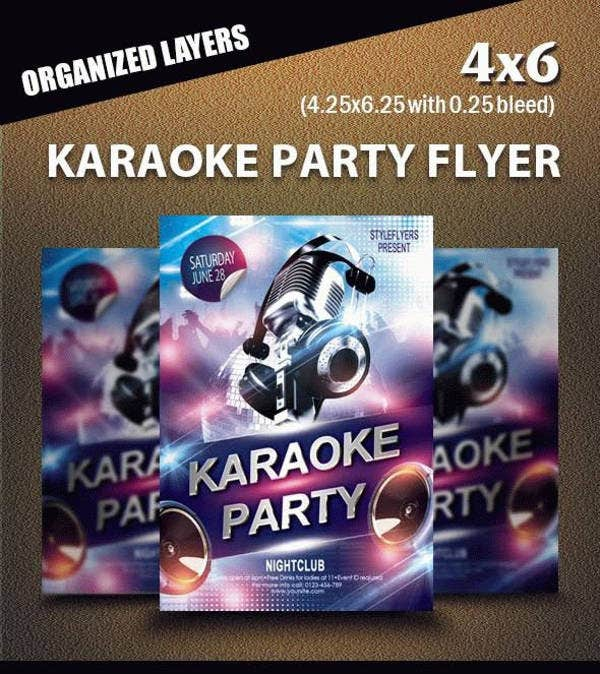 Karaoke Music Party Flyer