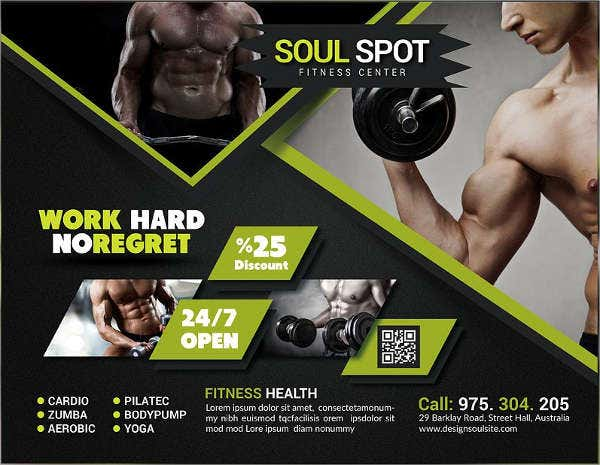 21 fitness flyer designs in psd word publisher free premium