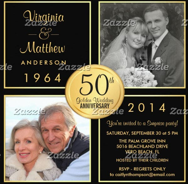 wedding anniversary invitation card7