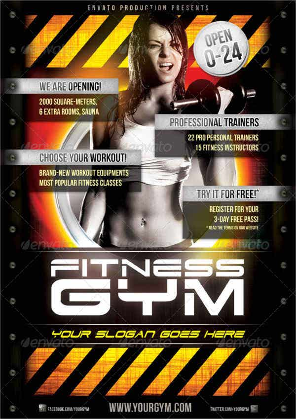 Free Fitness Gym Flyer  Free Fitness Flyer Templates