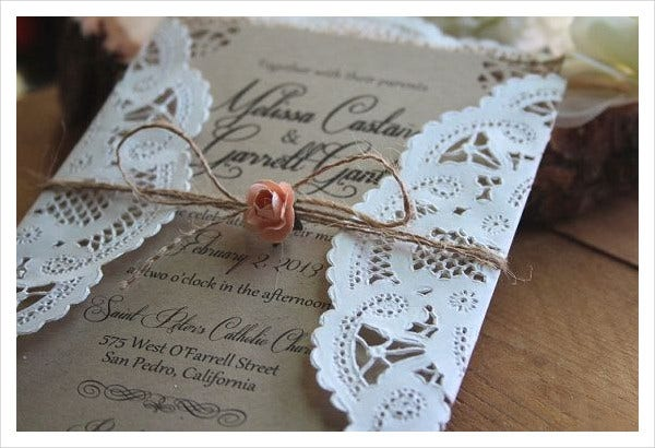 -Lace Wedding Invitation Card