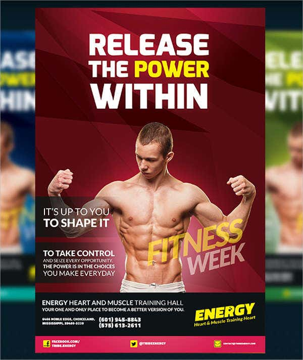 Free Fitness Flyer PSD