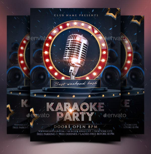 Karaoke Disco Party Flyer