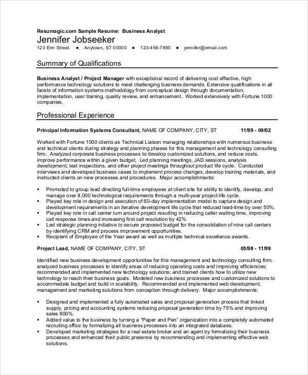 22 business resume templates free word pdf documents download free