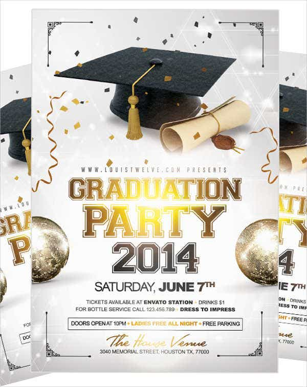 graduation party event flyer