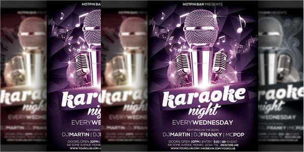 karaoke party event flyer