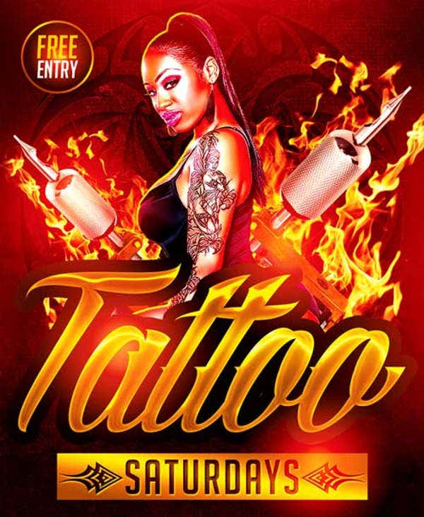 Children's Tattoo Party Flyer