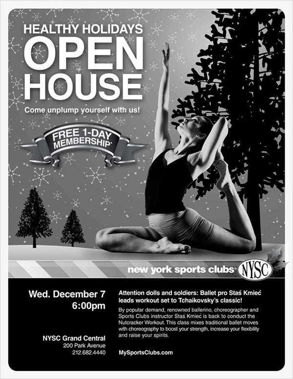 Fitness Center Open House Flyer