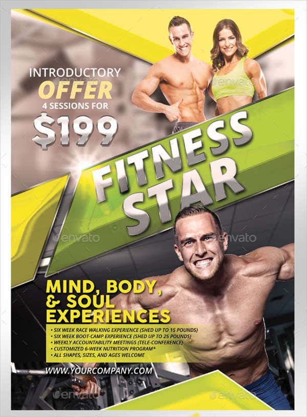 Fitness Center Grand Opening Flyer