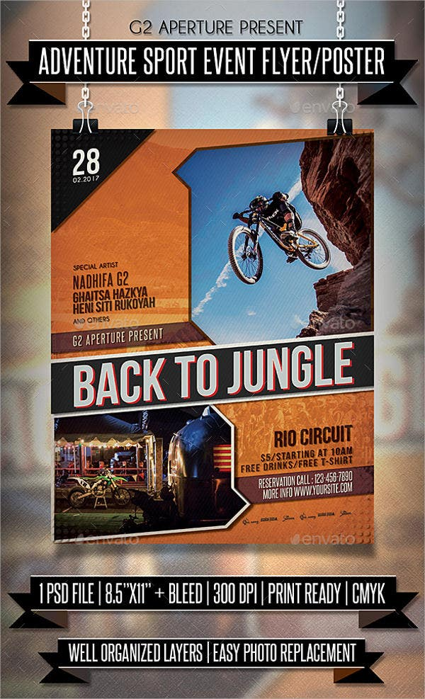 adventure sports event flyer1
