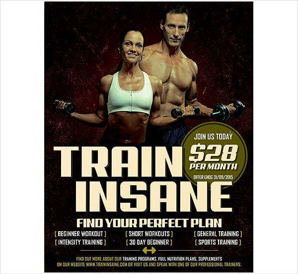 Fitness Training Flyer PSD
