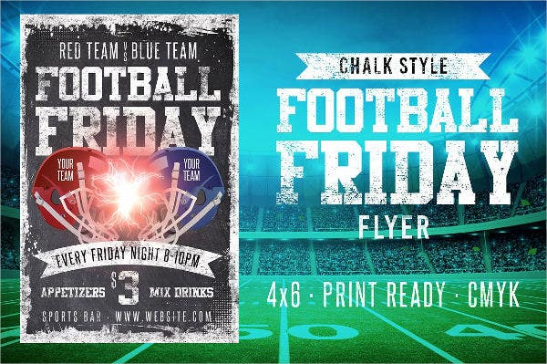 football sports event flyer