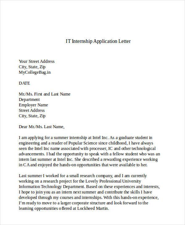 it internship application letter3