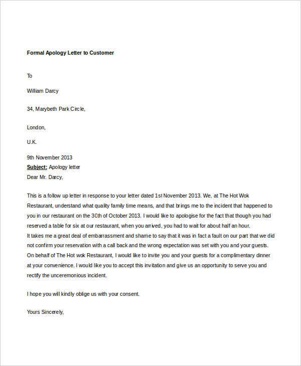 formal apology letter to customer2