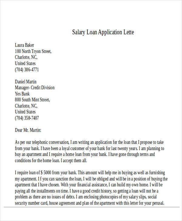 salary loan application letter1