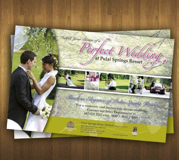 Wedding Reception Party Flyer