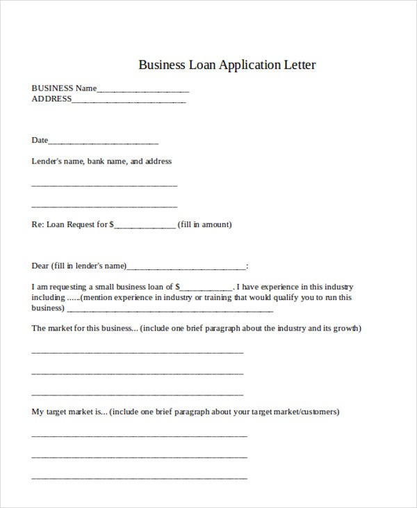 business loan application letter template1