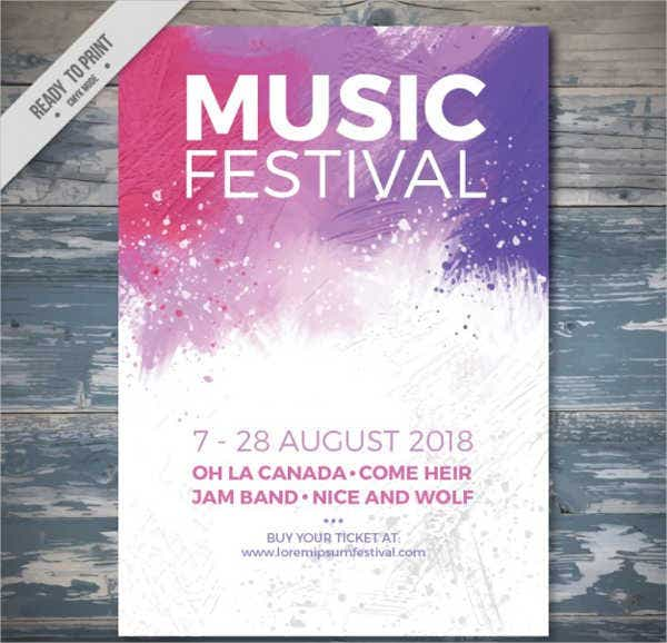 music festival event flyer2