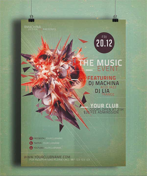 music-promotional-event-flyer