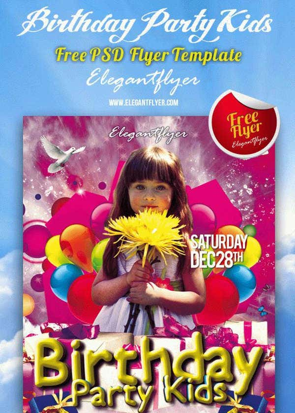 Kid's Birthday Party Flyer