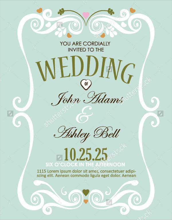 wedding reception event flyer