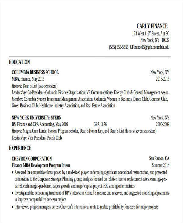 sample business school resume1