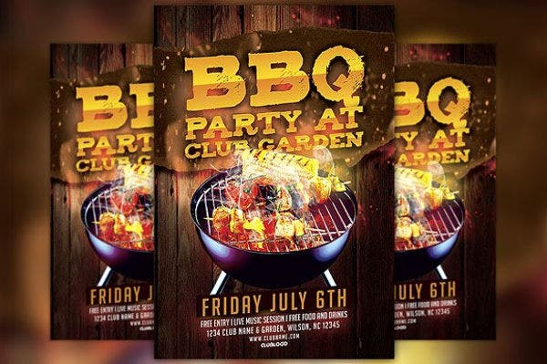 BBQ Party Promotion Flyer