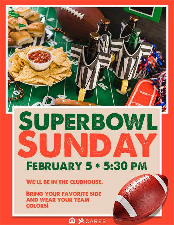 Super Bowl Commercial Party Flyer