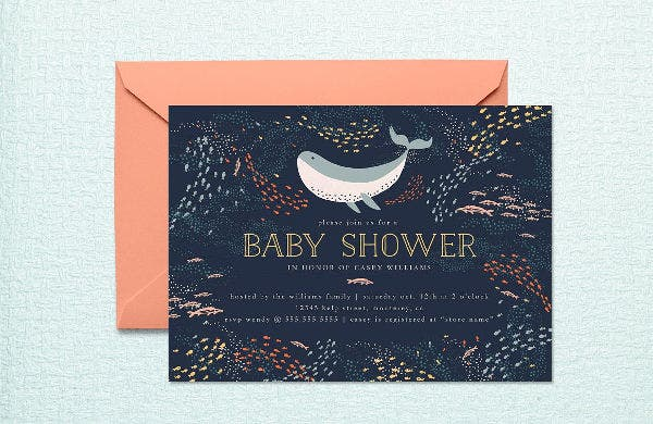 -Blank Baby Shower Invitation Card